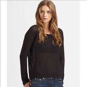 Rag & Bone Open Knit Sweater Top Women x-small